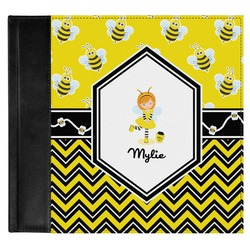 Buzzing Bee Genuine Leather Baby Memory Book (Personalized)