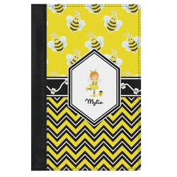 Buzzing Bee Genuine Leather Passport Cover (Personalized)