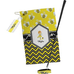 Buzzing Bee Golf Towel Gift Set (Personalized)