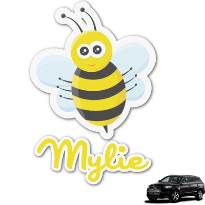 Buzzing Bee Graphic Car Decal (Personalized)