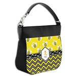 Buzzing Bee Hobo Purse w/ Genuine Leather Trim (Personalized)