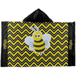 Buzzing Bee Kids Hooded Towel (Personalized)