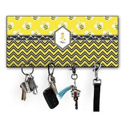 Buzzing Bee Key Hanger w/ 4 Hooks (Personalized)