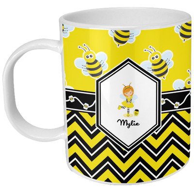 Buzzing Bee Plastic Kids Mug (Personalized)