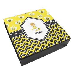 Buzzing Bee Leatherette Keepsake Box - 8x8 (Personalized)