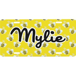 Buzzing Bee Front License Plate (Personalized)