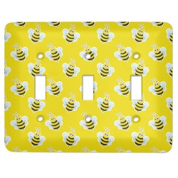 Buzzing Bee Light Switch Cover (3 Toggle Plate) (Personalized)