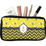 Buzzing Bee Makeup / Cosmetic Bag - Small (Personalized)