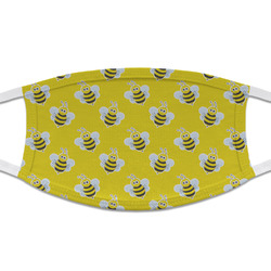 Buzzing Bee Cloth Face Mask (T-Shirt Fabric) (Personalized)