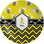 Buzzing Bee Melamine Plate (Personalized)