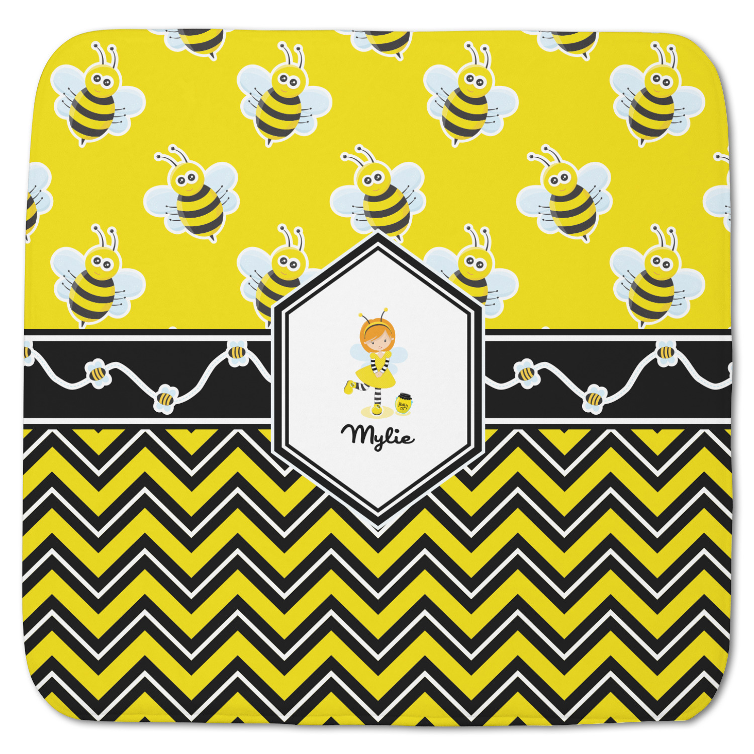 Buzzing Bee Memory Foam Bath Mat Personalized