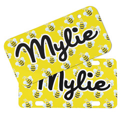Buzzing Bee Mini/Bicycle License Plates (Personalized)