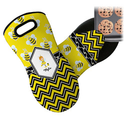 Buzzing Bee Neoprene Oven Mitt (Personalized)