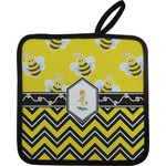 Buzzing Bee Pot Holder w/ Name or Text