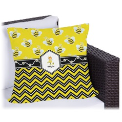 Buzzing Bee Outdoor Pillow (Personalized)