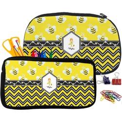 Buzzing Bee Pencil / School Supplies Bag (Personalized)