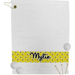 Buzzing Bee Golf Bag Towel (Personalized)