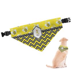 Buzzing Bee Dog Bandana - Large (Personalized)