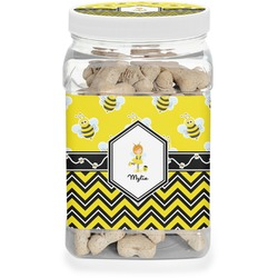 Buzzing Bee Dog Treat Jar (Personalized)