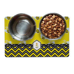 Buzzing Bee Dog Food Mat (Personalized)