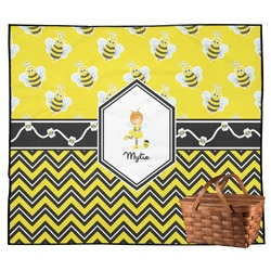 Buzzing Bee Outdoor Picnic Blanket (Personalized)