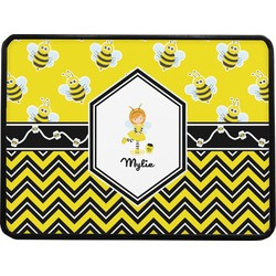 Buzzing Bee Rectangular Trailer Hitch Cover (Personalized)