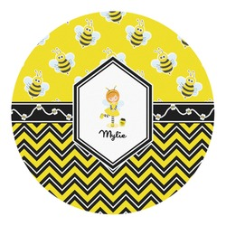Buzzing Bee Round Decal - Custom Size (Personalized)