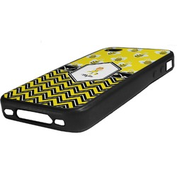 Buzzing Bee Rubber iPhone Case 4/4S (Personalized)