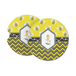 Buzzing Bee Sandstone Car Coasters (Personalized)