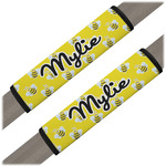Buzzing Bee Seat Belt Covers (Set of 2) (Personalized)