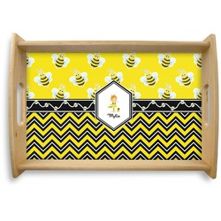 Buzzing Bee Natural Wooden Tray (Personalized)