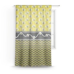 Buzzing Bee Sheer Curtains (Personalized)