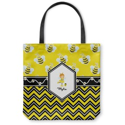 Buzzing Bee Canvas Tote Bag (Personalized)