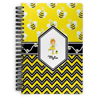 Buzzing Bee Spiral Notebook (Personalized)