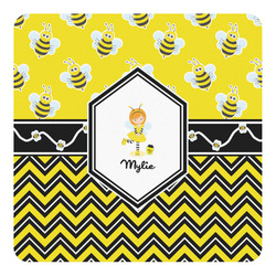 Buzzing Bee Square Decal - Custom Size (Personalized)