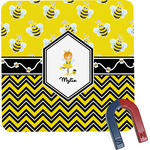Buzzing Bee Square Fridge Magnet (Personalized)