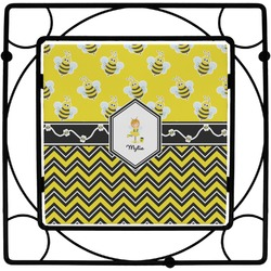 Buzzing Bee Square Trivet (Personalized)