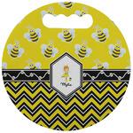 Buzzing Bee Stadium Cushion (Round) (Personalized)