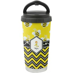 Buzzing Bee Stainless Steel Coffee Tumbler (Personalized)