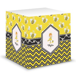 Buzzing Bee Sticky Note Cube (Personalized)