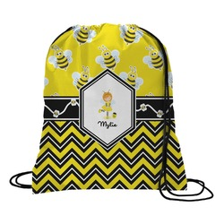 Buzzing Bee Drawstring Backpack (Personalized)