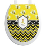 Buzzing Bee Toilet Seat Decal (Personalized)