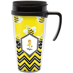 Buzzing Bee Travel Mug with Handle (Personalized)
