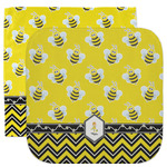 Buzzing Bee Facecloth / Wash Cloth (Personalized)