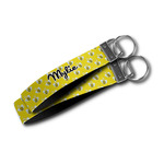 Buzzing Bee Wristlet Webbing Keychain Fob (Personalized)