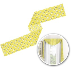 Buzzing Bee Window Sheer Scarf Valance (Personalized)