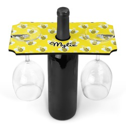 Buzzing Bee Wine Bottle & Glass Holder (Personalized)
