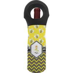 Buzzing Bee Wine Tote Bag (Personalized)