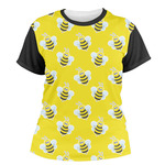 Buzzing Bee Women's Crew T-Shirt (Personalized)