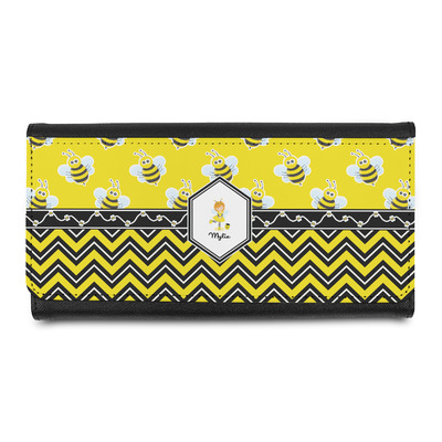 Buzzing Bee Leatherette Ladies Wallet (Personalized)